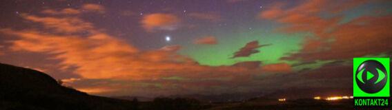 Wenus lśni na tle zorzy polarnej. Niezwykłe zdjęcia ze Szkocji
