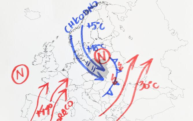 Sytuacja pogodowa w Europie
