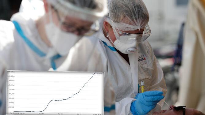 Koronawirus w liczbach. Kolejne zakażenia, ozdrowieńcy i zmarli